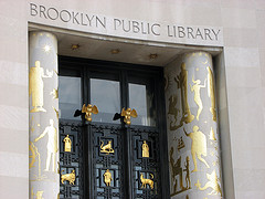 The Ornate Entrance Of The Brooklyn Public Library.
