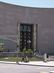 Entrance Of The Brooklyn Public Library's Central Branch At Flatbush Avenue And Eastern Parkway