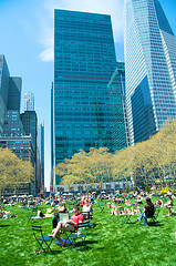 New Yorkers Enjoying Springtime In Bryant Park