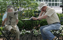 Bryant Park Is A Great Place To Peacefully Enjoy The Paper In The Morning.