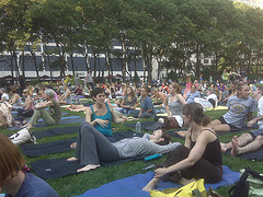 Yoga Classes At Bryant Park Are A Great Way To Stay In Shape!