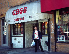 A Person Looks Out From CBGB. Wonder What He Is Thinking.