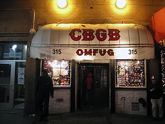 Let Us Go In And See What They Have At CBGB.