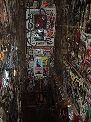 The Stairwell Of Famous New York Music Club CBGB's, Circa 2003