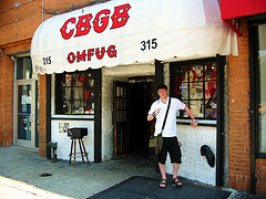 Since The Club Closed In 2006, This Distinctive Awning Outside CBGB Is Now Absent.