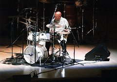 A Drummer Sits Spot lit On The Stage At Carnegie Hall, A Host To Hundreds Of Events Each Year.