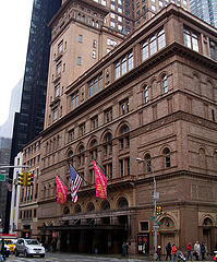 Carnegie Hall, On A Sunny New York Day, Home To Classical Music.