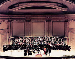 Group photo Of The Orchestra At Carnegie Hall