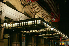 Carnegie Hall Main Entrance At Nightfall