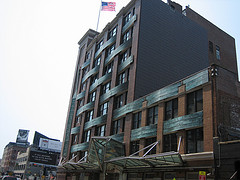 An Image Of The Outside Of A Building In Chelsea Market.