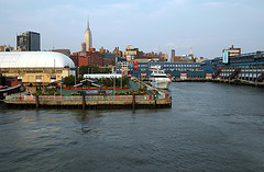Look At This Amazing View Of Chelsea Piers On A Calm Day.