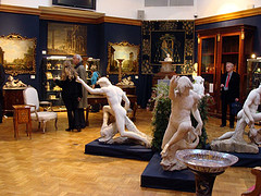 Christie's Pre Auction Display Room Of Fine Art.