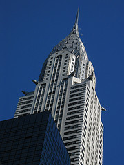 A View Looking Up At The Chrysler Building.
