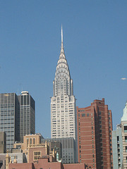 Chrysler Building Against A Blue Sky