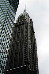 The Chrysler Building, Seen From Below, On A Grey Day