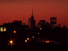 Night Skyline Dominated By The Chrysler Building