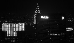 A Great Night Time View From A Top Of The Chrysler Building.
