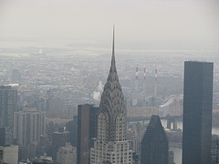 It May Be Foggy But The Chrysler Building Still Has A Unique Shine To It