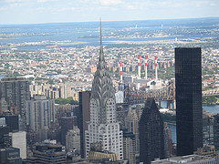 A View Of The City Featuring The Chrysler Building