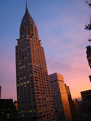 Sunset Shines On The Chrysler Building