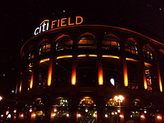 Night Time Outside Citi Field, The Home Ball Park Of The New York Mets.