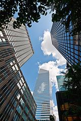 Vertigo-inducing View Of New York Skyscrapers, Including Citibank