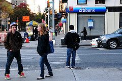 People In Front Of Citibank