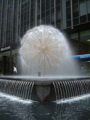 What A Fantastic Picture Of A Fountain Outside Citigroup Tower.