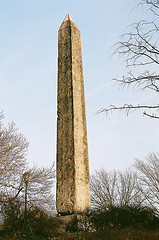 An Image Of Cleopatra's Needle On A Sunny Fall Day