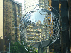 Trump International's Steel Globe In Columbus Circle
