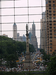 Columbus Circle And Central Park South Viewed From The Time Warner Center