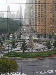 The Monument At Columbus Circle, As Seen From Inside The Time Warner Building