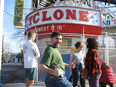Everyone Has Fun On Their Way To The Coney Island Cyclone.