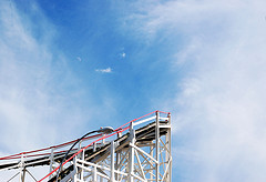 A Bend Before A Plunge On The Coney Island Cyclone
