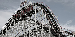 View Of The Coney Island Cyclone From The Ground