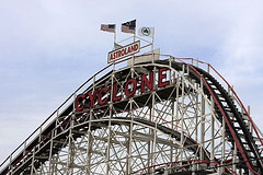 The Coney Island Cyclone A Wooden Roller Coaster Operated By The Albert Family Since 1975