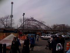 Coney Island Cyclone, A Wooden Roller Coaster, In Brooklyn, New York.