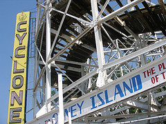 The Coney Island Cyclone Is One Of The Country's Most Famous Wooden Roller Coasters.