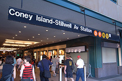 Coney Island-Stillwell Avenue Station In Nyc; The World's Largest Above Ground Transit Station.