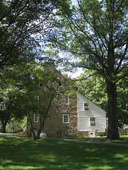 Side View Of Conference House In Leafy Staten Island Neighborhood