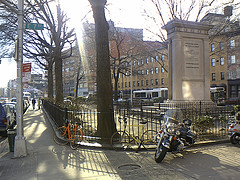 Outside The Fence Of Cooper Union College During The Late Afternoon