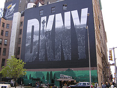 A Large Danny Sign On The Side Of This Building.