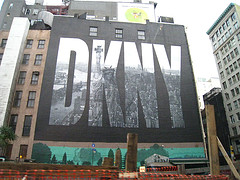 A Giant Outdoor Wall Advertisement For The Danny Fashion Label