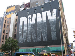 Side Of The Famous Danny Building, Featuring Donna Karan's Work.
