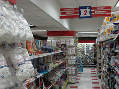 An Aisle Inside Duane Reade Pharmacy.