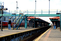 East 180th Street (dirt White Plains Road Line) Elevated Train Station In The Bronx