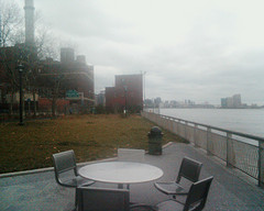Foggy Day: An Empty Table For Five Along The East River
