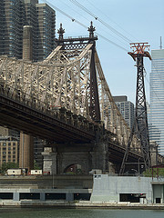 Queensboro Bridge Over The East River On A Sunny New York City Day.