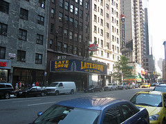 The Outside Of The Ed Sullivan Theater Home To The Late Show