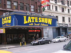 Come In And See The Recording Of The Late Show At The Ed Sullivan Theater.